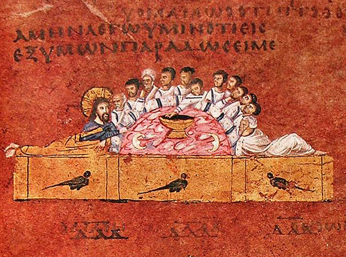 Codex Purpureus Rossanensis [detail], c 500